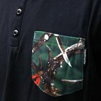 EXPEDITION ONE ANTLER CAMO 3/4 HENLEY 美国进口七分袖口袋TEE_2