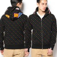 BAPE SHARK MULTI DOT FULL ZIP HOODIE 波点 鲨鱼 黑 帽衫 现货_0