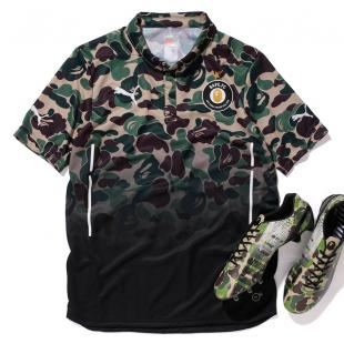 BAPE F.C PUMA GAME SHIRTS 联名迷彩衬衫14aw